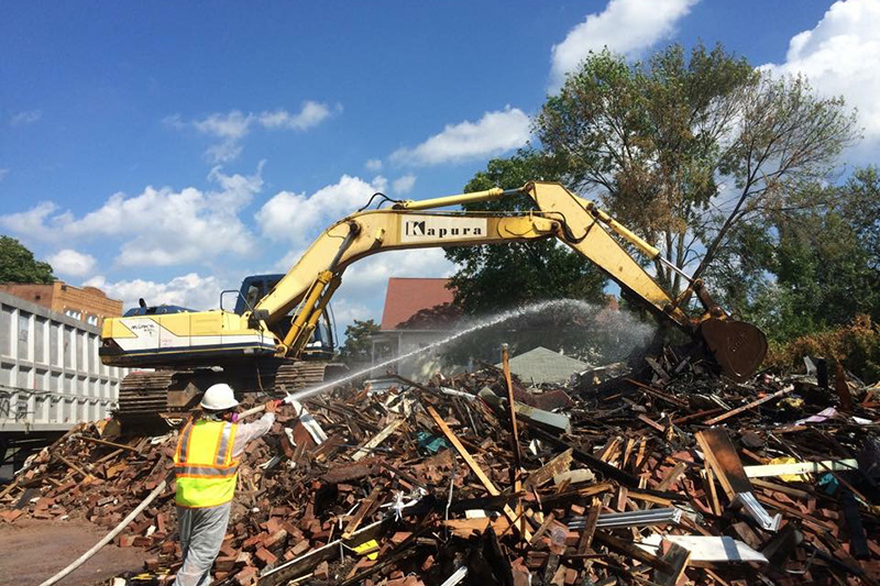Removal of Demolished Building